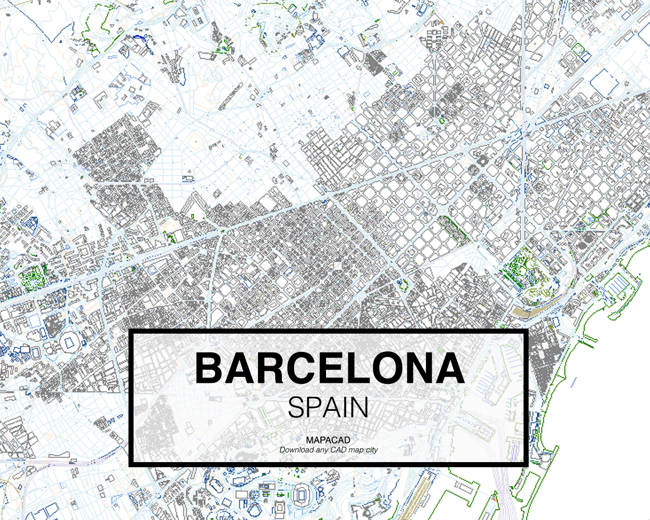 Map Of Spain Download Free.Barcelona