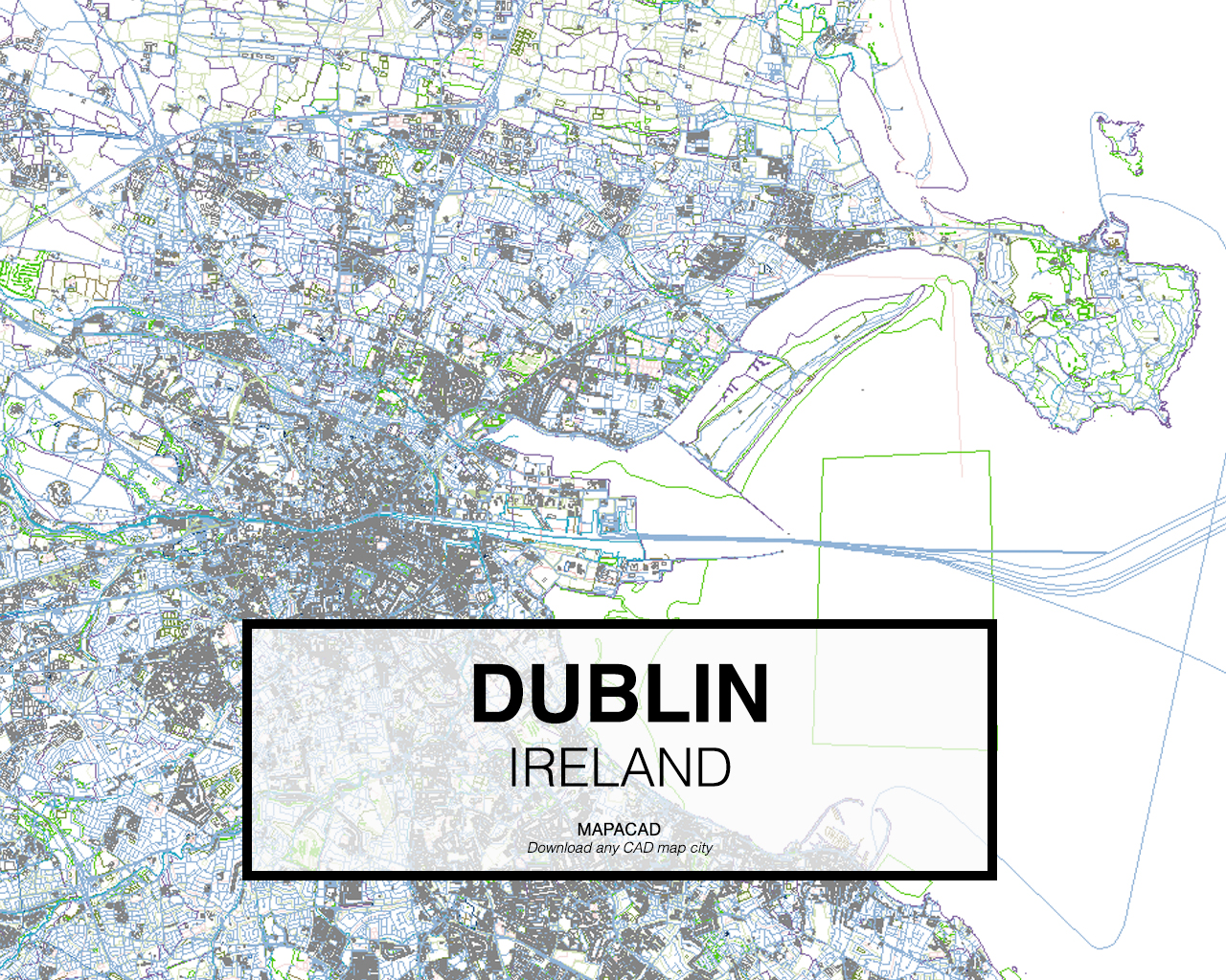 City Map Of Dublin Ireland.Dublin