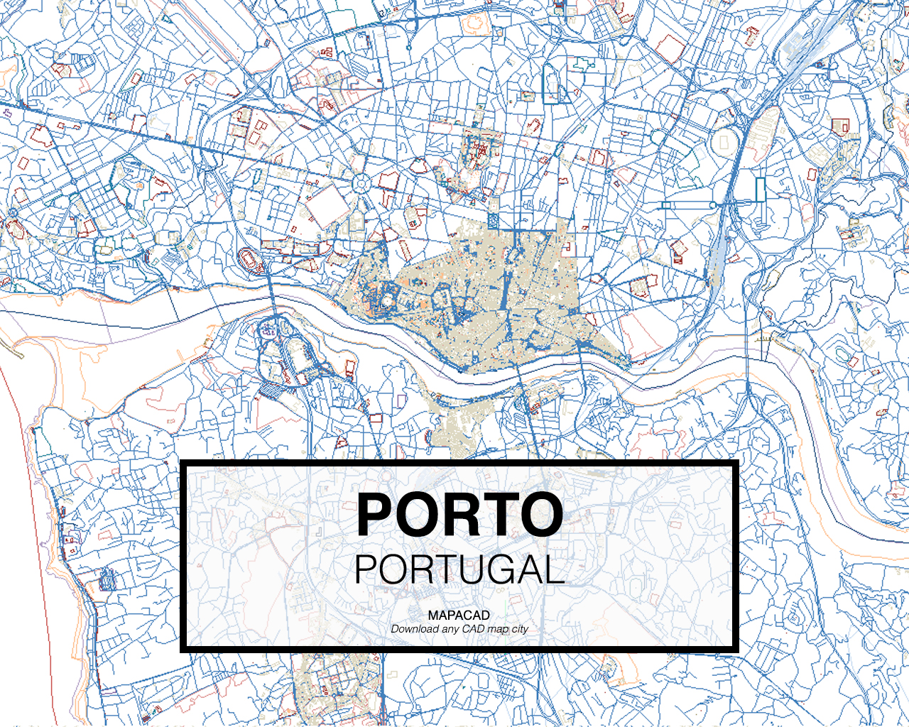 Download any cad map city mapacad porto portugal 01 mapacad download map cad dwg gumiabroncs Image collections