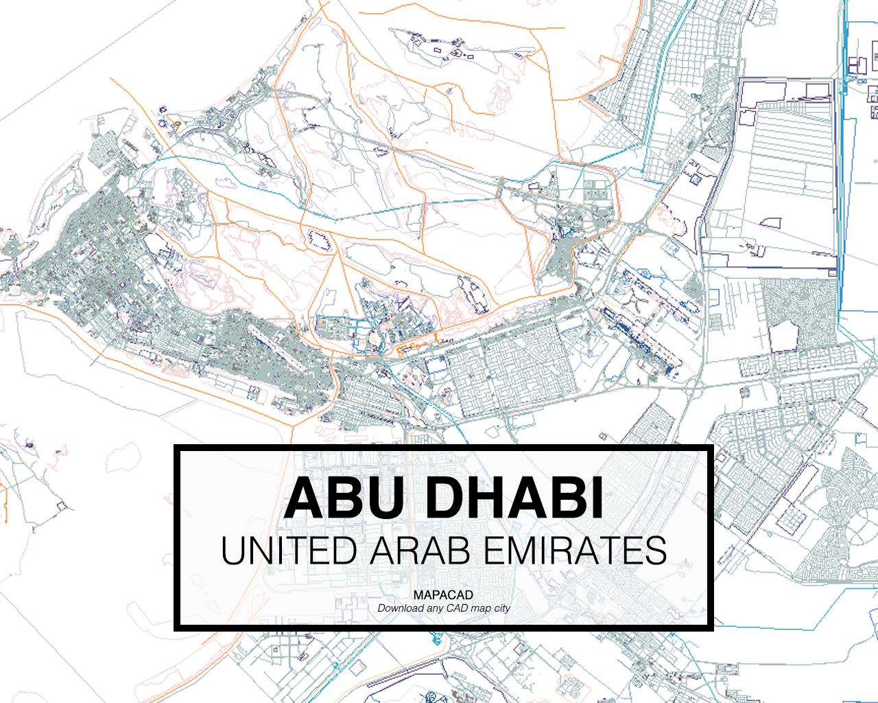 abu dhabi arab emirates 01 mapacad download map cad dwg dxf autocad free 2d 3d. Black Bedroom Furniture Sets. Home Design Ideas