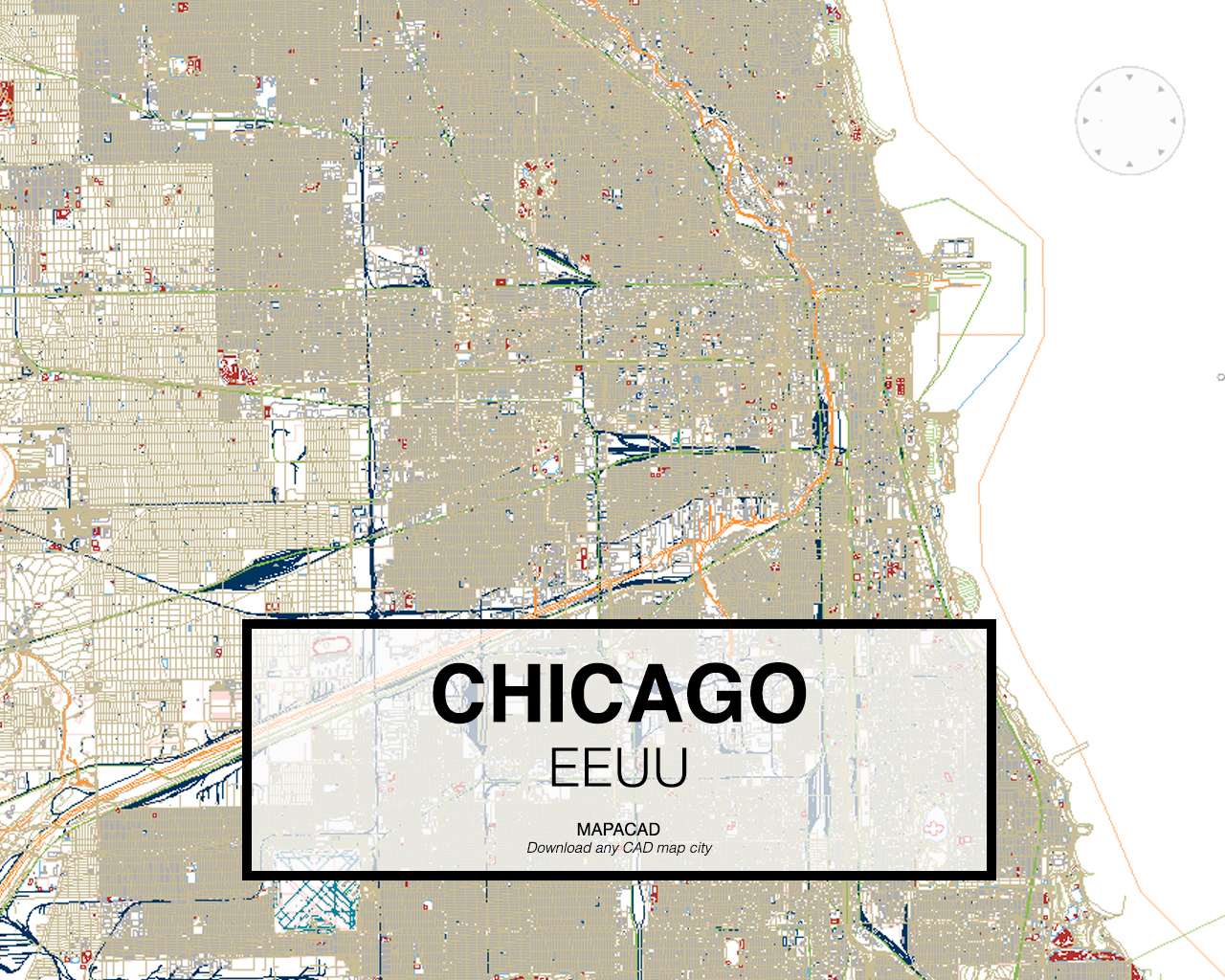 Download any cad map city mapacad chicago eeuu 001 mapacad download map cad dwg gumiabroncs Gallery