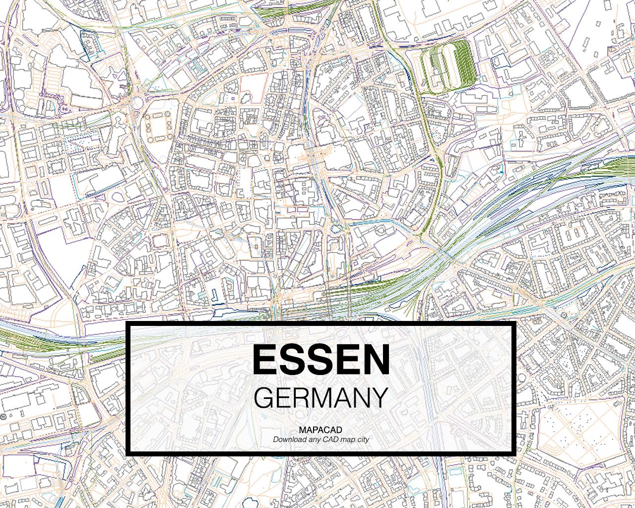 Map Of Germany Essen.Essen