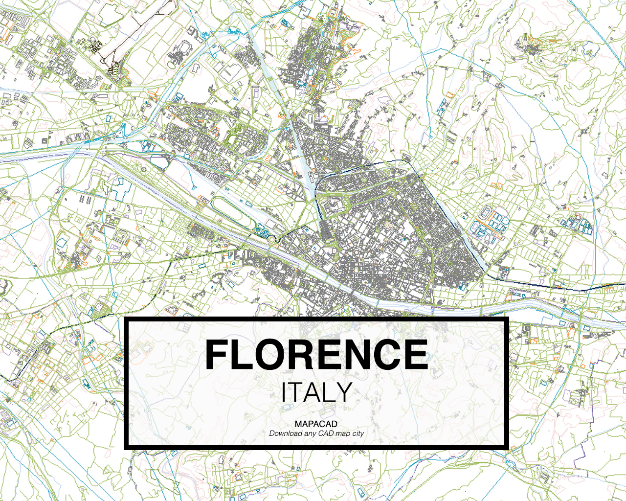 Florence Italy 01 Mapacad download map cad dwg dxf autocad free 2d 3d