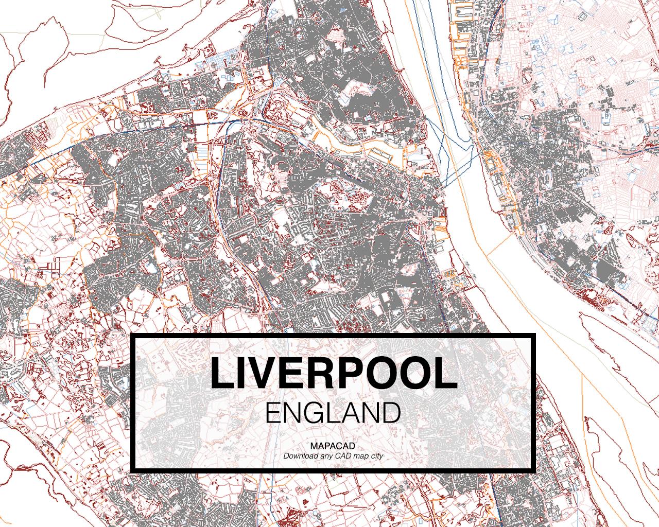 City map Liverpool UK