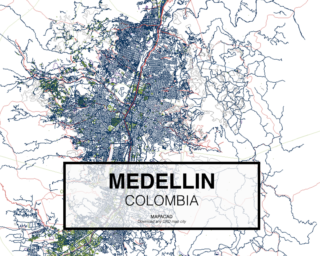 Medellin medellin colombia 01 mapacad download map cad dwg gumiabroncs Images
