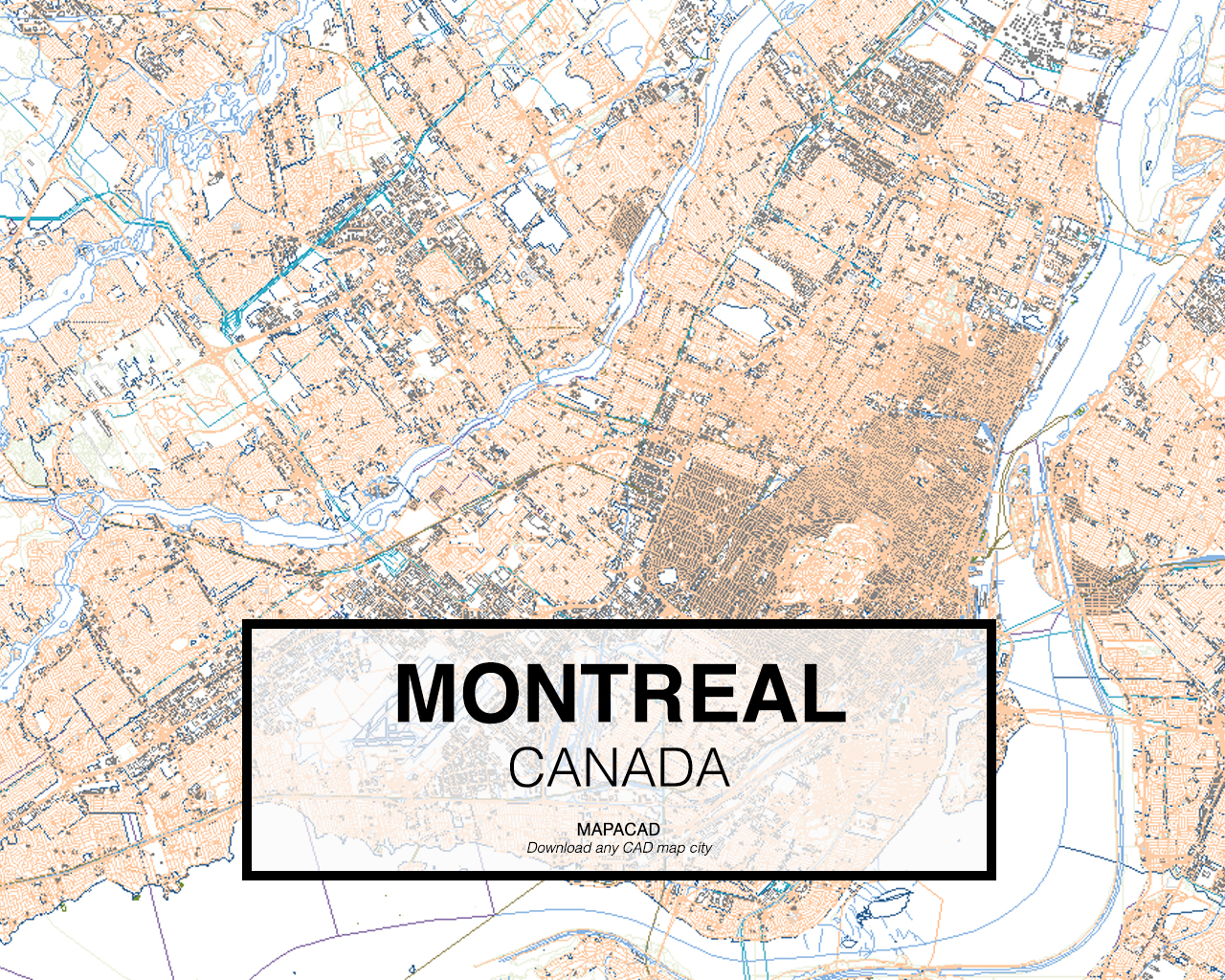 Canada Map Montreal.Download Montreal Dwg Mapacad
