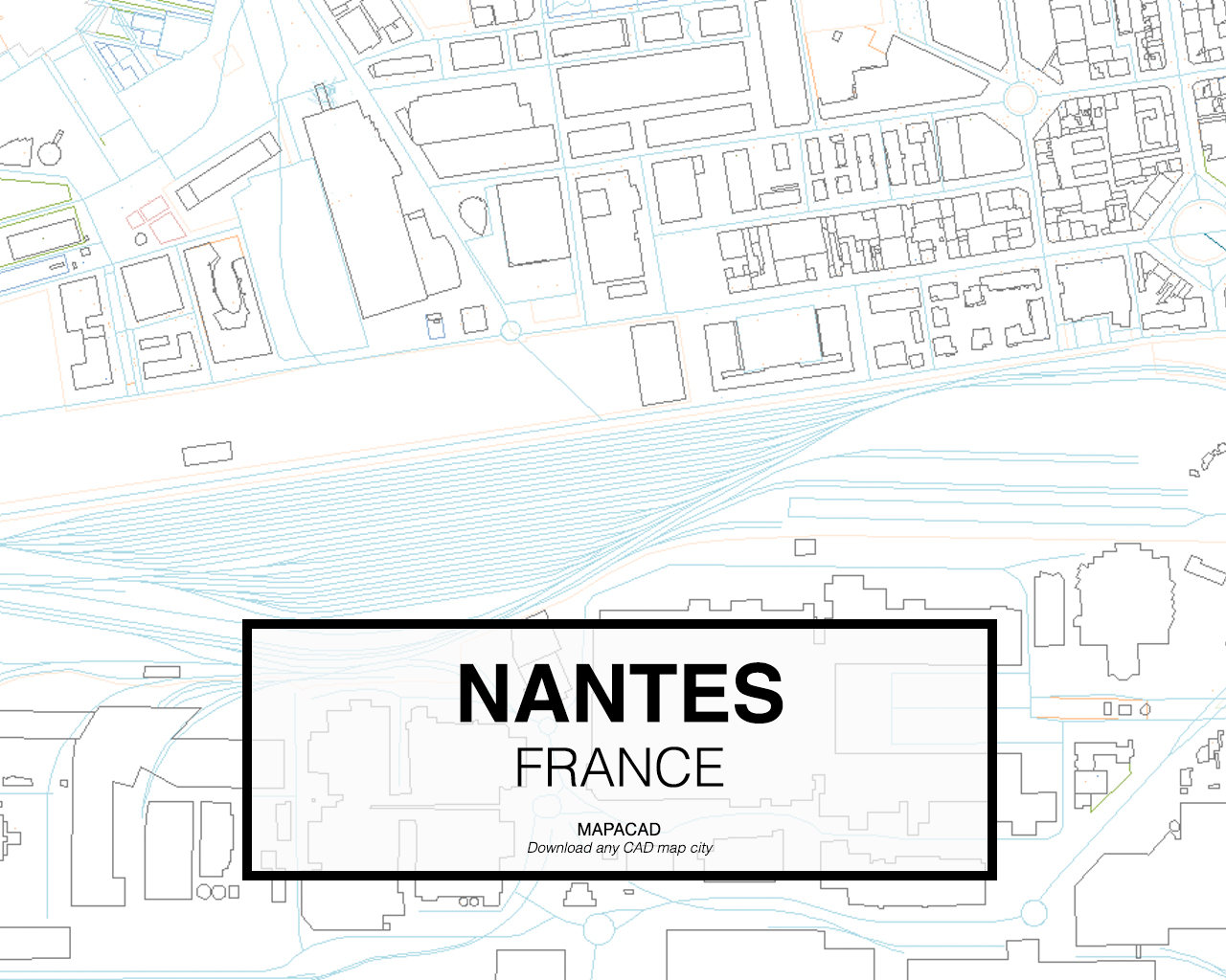 Map Of France Nantes.Nantes Dwg Mapacad