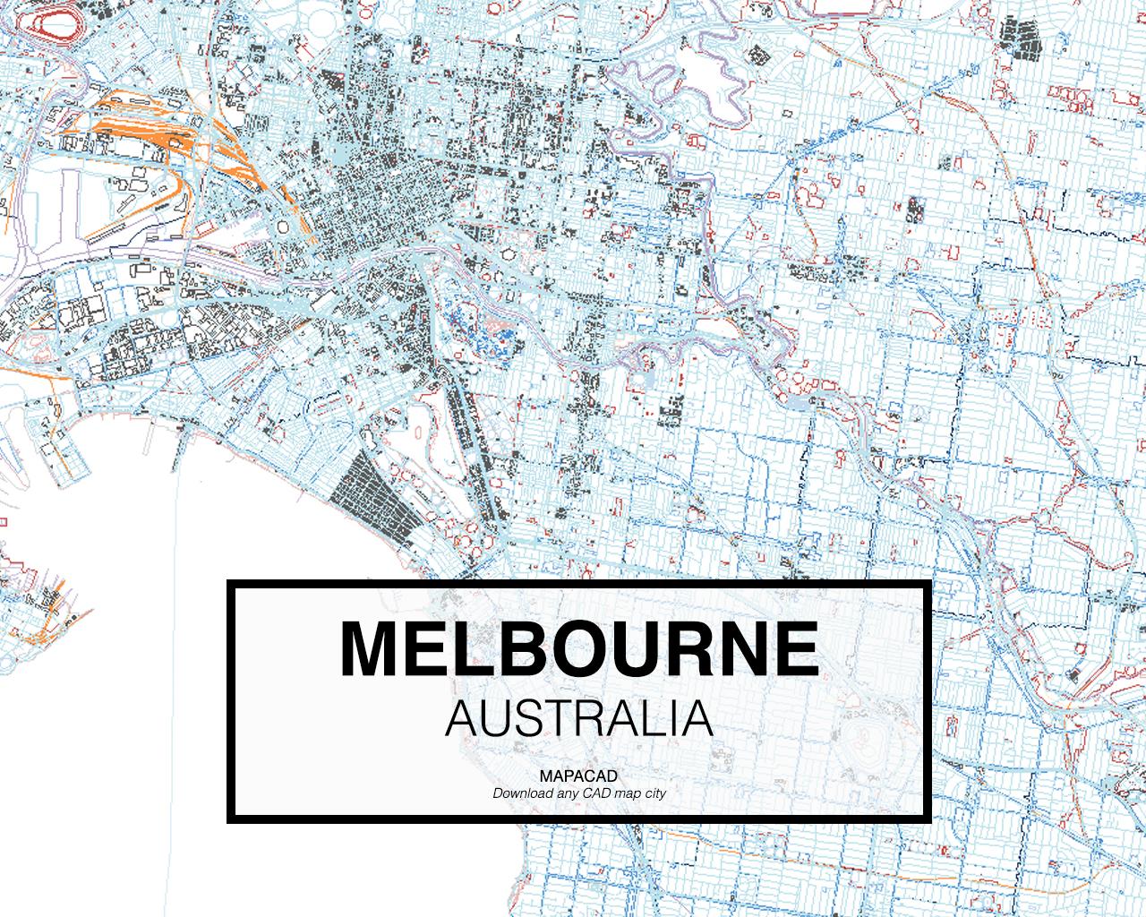 Melbourne Australia City Map.Download Melbourne Dwg Mapacad