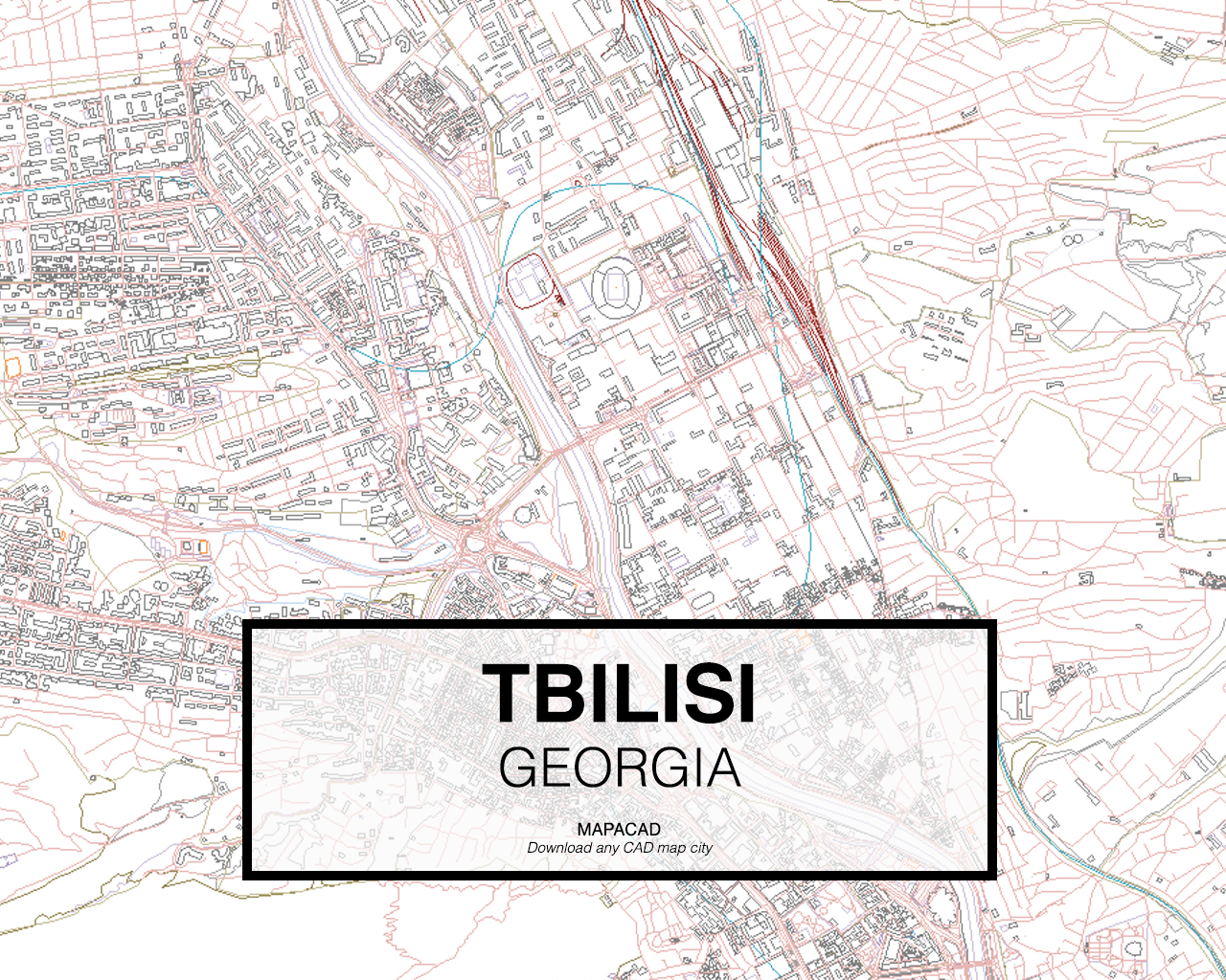 Map Of Georgia With Highways.Tbilisi