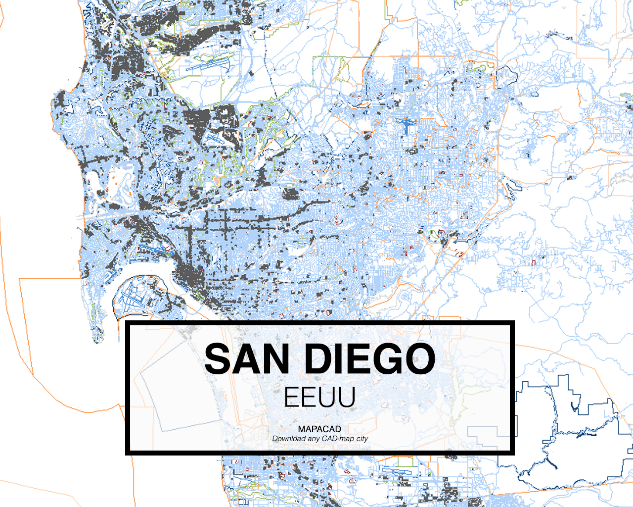 San Diego Map City.Download San Diego Dwg Mapacad
