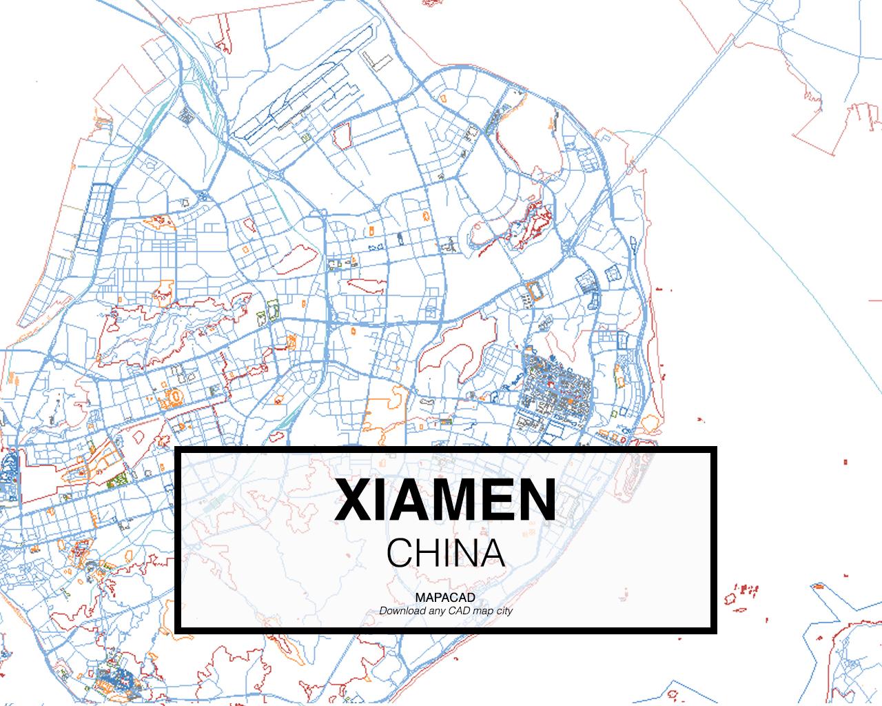 Xiamen China Map.Download Xiamen Dwg Mapacad