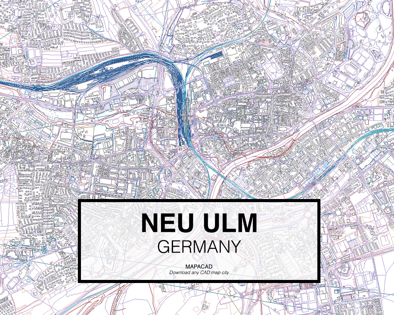 Map Of Germany Ulm.Neu Ulm