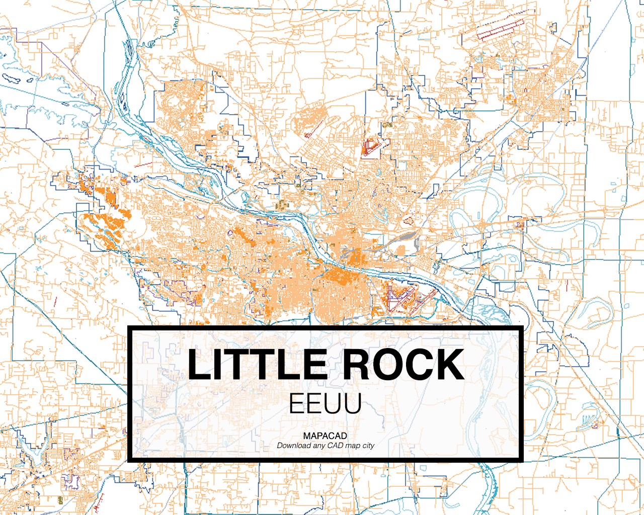Download Little Rock DWG - Mapacad
