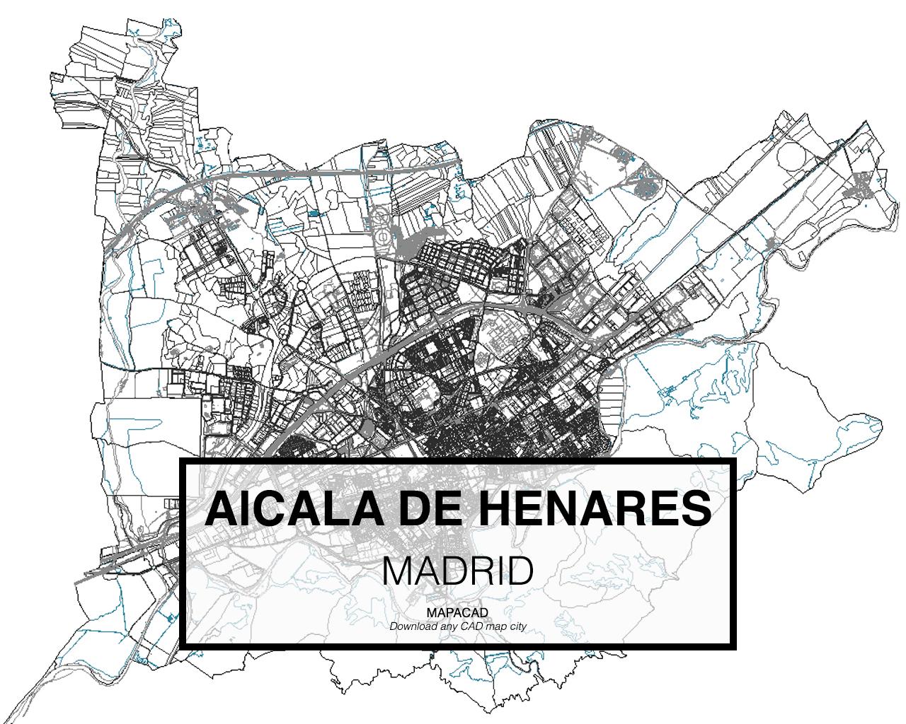 Madrid dwg mapacad Arquitectura alcala de henares