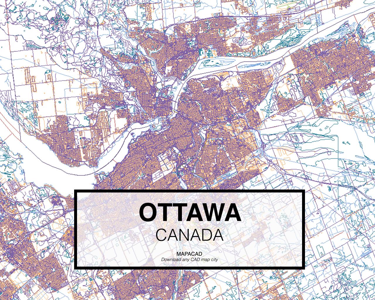 Map Of Ottawa Canada.Download Ottawa Dwg Mapacad