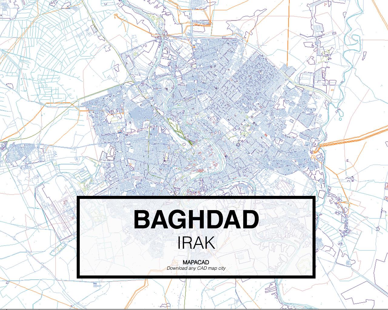 baghdad irak 01 mapacad download map cad dwg