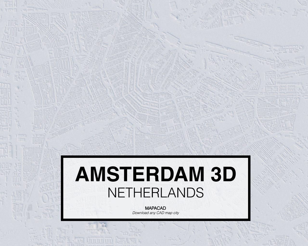 Download Amsterdam 3d Model Obj Mapacad
