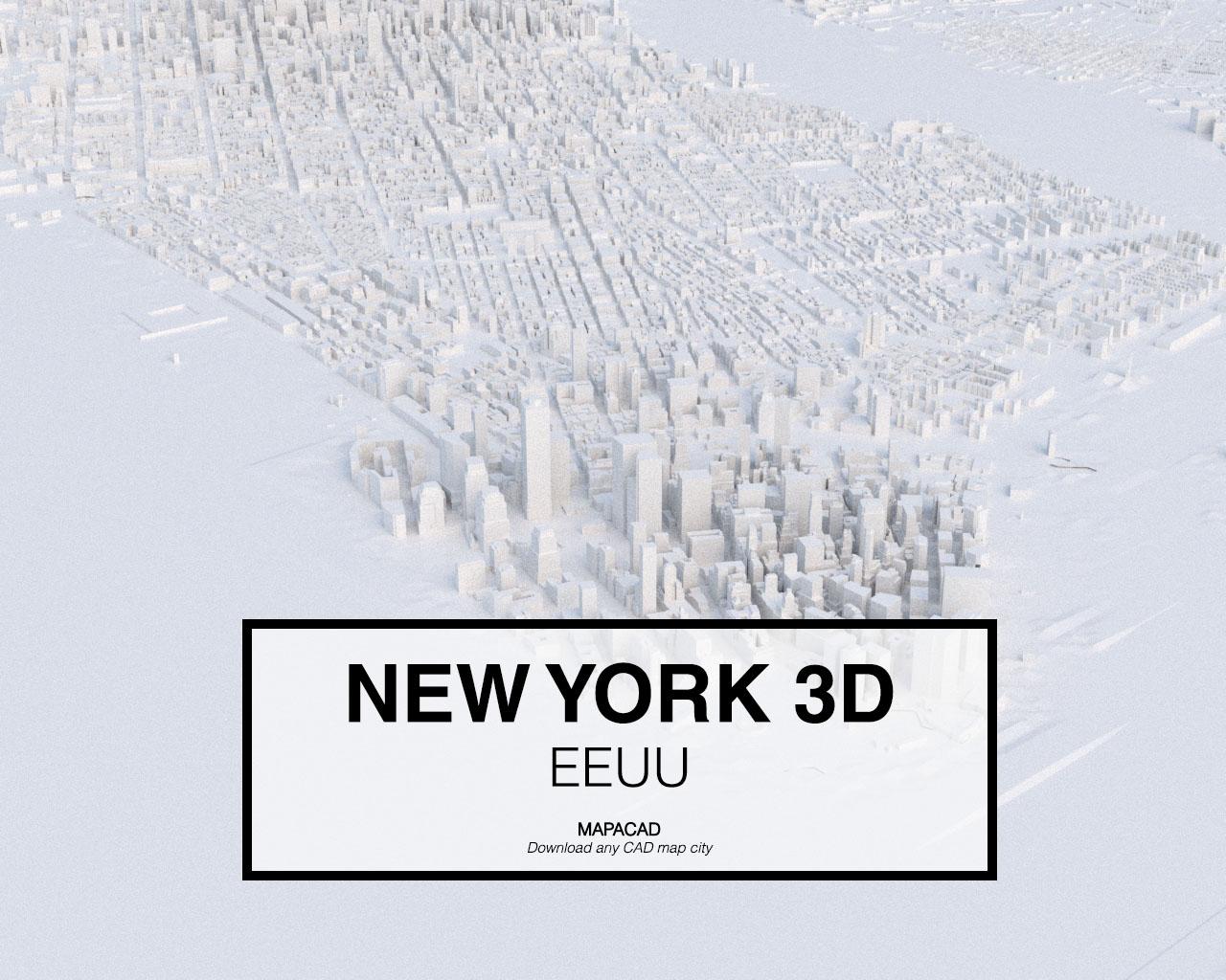 Map Of New York 3d.En New York 3d Es Nueva York 3d