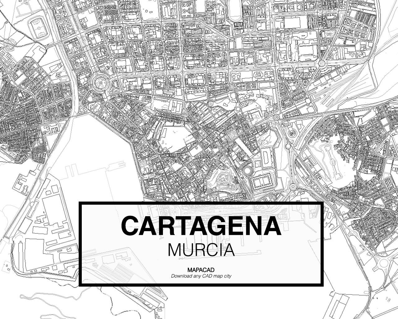 Mapa De Cartagena Murcia.Cartagena