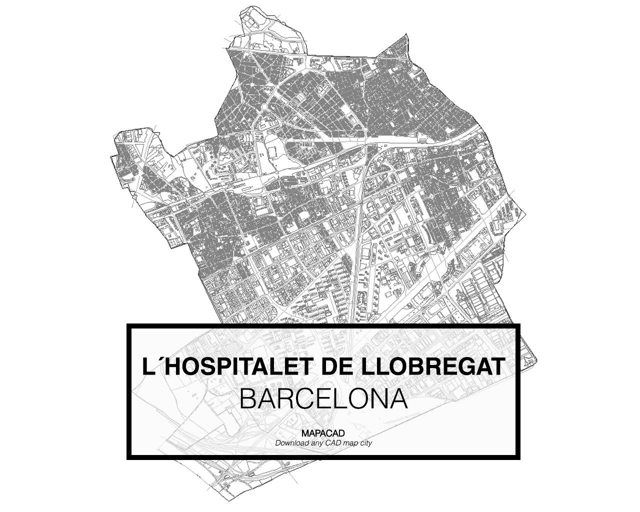 Mapa De L Hospitalet.L Hospitalet De Llobregat