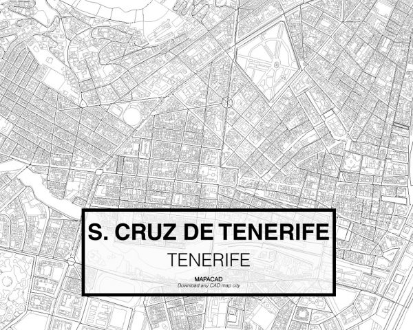 Santa Cruz de Tenerife-02-download-map-cad-dwg-dxf-autocad-free-2d-3d