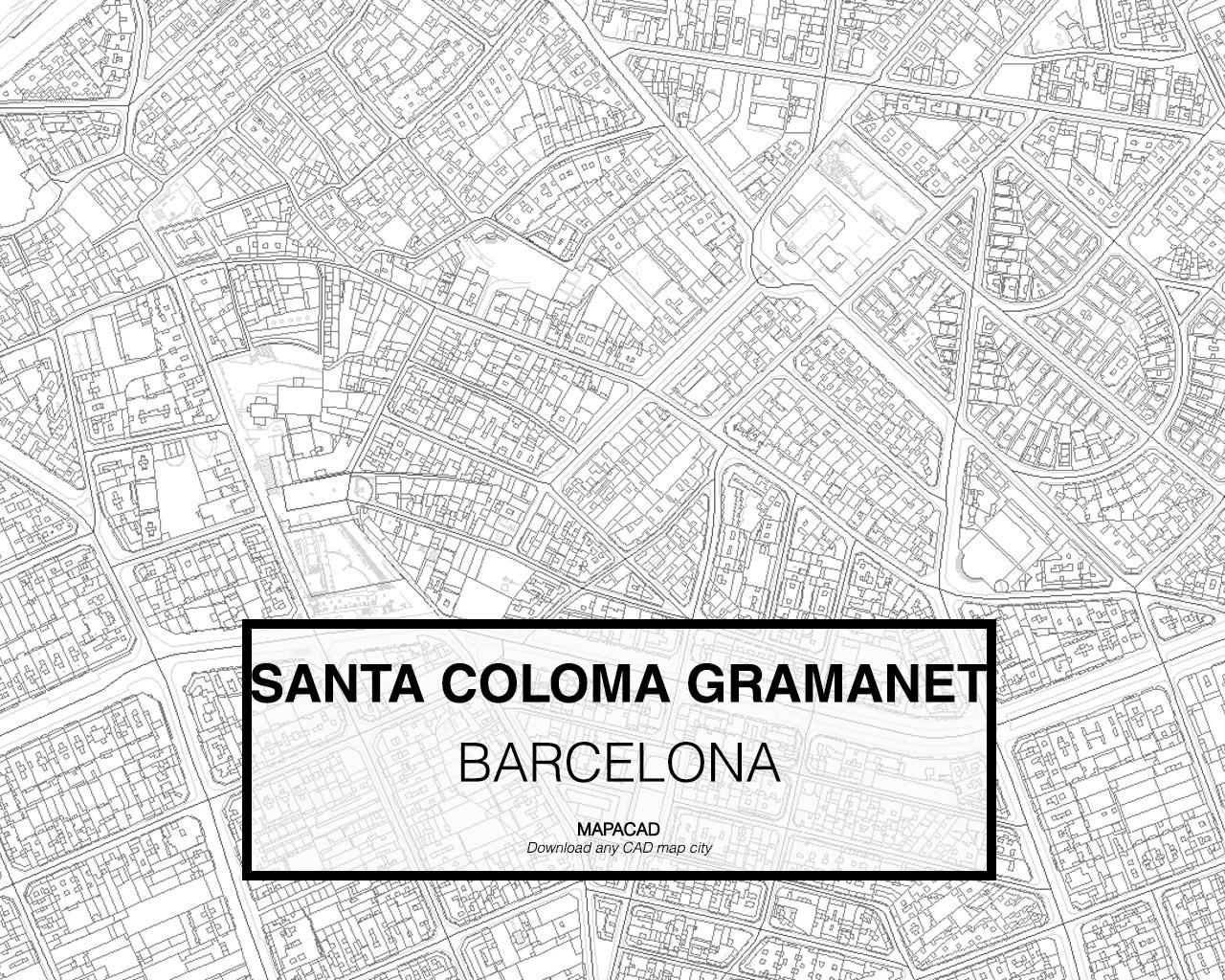 Santa Coloma De Gramanet Barcelona Dwg Mapacad