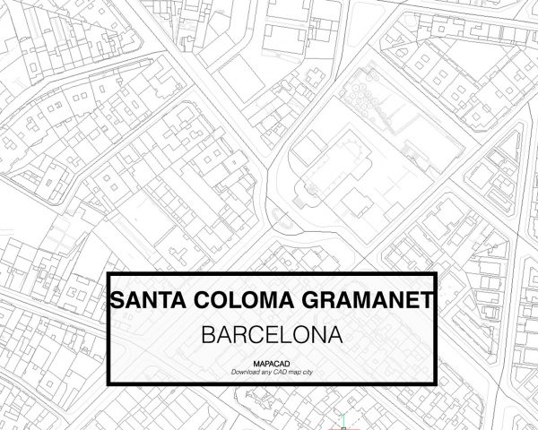 Santa Coloma de Gramanet-Barcelona-03-Mapacad-download-map-cad-dwg-dxf-autocad-free-2d-3d
