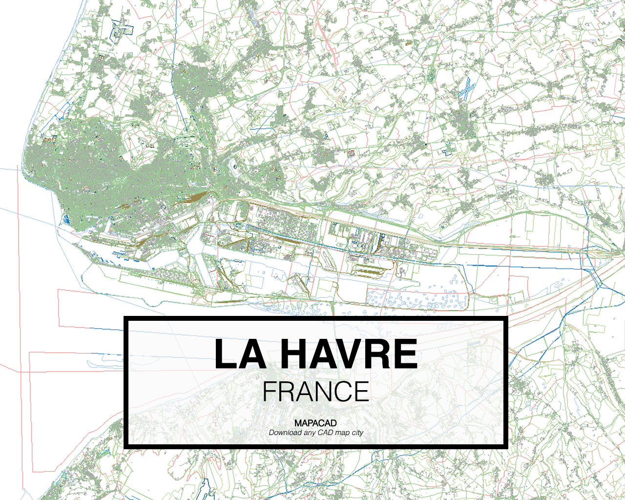 Map Of France Le Havre.Le Havre
